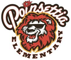 Poinsettia Elementary Lions Logo